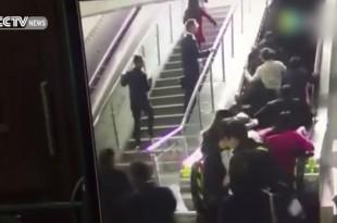 chute escalator chine