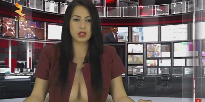 Enki Bracaj devient présentatrice en dévoilant sa poitrine